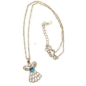 ANGEL Necklace Avon Silver Teal